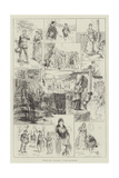 Sketches from The Armada at Drury-Lane Theatre Giclee Print by Frederick Henry Townsend