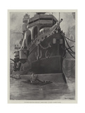 The French First-Class Battle-Ship Charles Martel at Toulon, Finishing Touches Giclee Print by Fred T. Jane