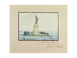 Statue of Liberty, Beldoe Island, New York City, 1888 Giclee Print by Frederic Auguste Bartholdi