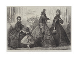 Paris Fashions for April Giclee Print by Frederic Theodore Lix