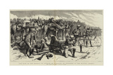 The War in the Soudan, an Attack on a Convoy of Wounded in the Bayuda Desert Giclée-Druck von Frederic Villiers