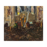 Orthodox Mass Giclee Print by Franz Roubaud