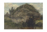 Rocky Hillside, C.1830 Giclee Print by Frederick Waters Watts