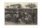 Sketches in China, on Board an Opium Hulk at Shanghai Giclee Print by Frank Dadd