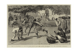 Not in Earnest, a Native War Dance before Lord Wolseley at the Mudireh, Dongola Giclée-Druck von Frederic Villiers