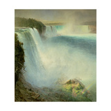 Niagara Falls, from the American Side, 1867 Giclee Print by Frederic Edwin Church
