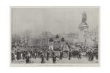 The Funeral of President Faure, the Procession Passing the Place De La Republique Reproduction procédé giclée par Frederic De Haenen