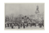 The Funeral of President Faure, the Procession Passing the Place De La Republique Giclee Print by Frederic De Haenen