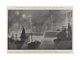 The Night of the Great Naval Review, the Illuminations Giclee-trykk av Fred T. Jane