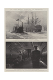 The First British Submarines at Portsmouth Giclee-trykk av Fred T. Jane