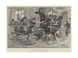 A Fire-Engine in a Siberian Town Giclee Print by Frederick Pegram