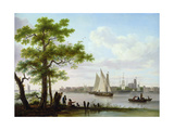 Town on an Estuary, C.1801-02 Giclee Print by Frans Swagers
