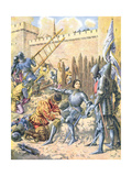 Joan of Arc at the Siege of Paris Giclee Print by Frederic Theodore Lix