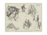 Christmas Entertainment to the Patients at King's College Hospital Giclee Print by Frederick Henry Townsend