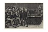 Arrest of Mr Bradlaugh in the House of Commons Reproduction procédé giclée par Frank Dadd