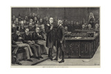 Arrest of Mr Bradlaugh in the House of Commons Giclee Print by Frank Dadd