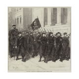 The War, a Battalion of Francs-Tireurs Passing Through Tours Giclee Print by Frederick Barnard