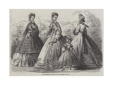 Paris Fashions for June Giclee Print by Frederic Theodore Lix