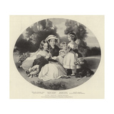 Four Royal Pirncesses Giclee Print by Franz Xaver Winterhalter