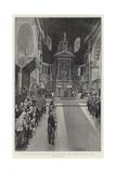 The Thanksgiving Service in St Paul's Cathedral, the Singing of the Te Deum Reproduction procédé giclée par Frederic De Haenen