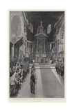 The Thanksgiving Service in St Paul's Cathedral, the Singing of the Te Deum Giclee Print by Frederic De Haenen
