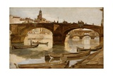 The Bridges: Florence, C.1880 Giclee Print by Frank Duveneck