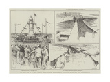 The Right Honourable W H Smith Opening the South Gare Breakwater Giclee Print by Frederick Henry Townsend