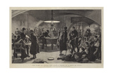 The Game of Peace and War, a Scene in a Cafe at Nisch Giclée-Druck von Frederic Villiers