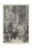 The Coronation of the Czar, the Public Inspecting the Preparations in the Church of the Assumption Reproduction procédé giclée par Frederic De Haenen