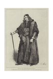 Mr Henry Irving as Shylock, in The Merchant of Venice, at the Lyceum Theatre Giclee Print by Frederick Barnard