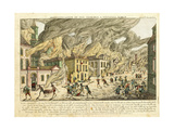 View of New York During the Great Fire of 1776; Representation Du Fue Terrible a Nouvelle York Giclee Print by Franz Xavier Habermann