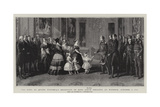 The King at Queen Victoria's Reception of King Louis Philippe at Windsor, 8 October 1844 Giclee Print by Franz Xaver Winterhalter