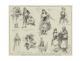 Sketches from M Planquette's New Comic Opera, Paul Jones, at the Prince of Wales's Theatre Giclee Print by Frederick Henry Townsend