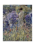 Woman in Garden, Circa 1912 Giclee Print by Frederick Carl Frieseke