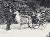 Three Visitors Including a Young Boy Photographic Print by Frederick William Bond