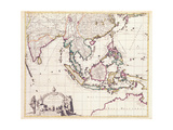 Map of India and the East Indies Giclee Print by Frederick de Wit