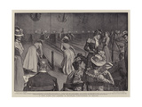 A New Game for Ladies, a Skittles Competition in Berlin Giclee Print by Frederick Henry Townsend