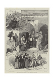 The Question of the Retention of Cyprus, Sketches in the Island Reproduction procédé giclée par Frederic De Haenen