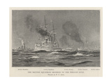 The British Squadron Ordered to the Persian Gulf Giclee-trykk av Fred T. Jane