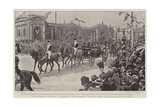 The Queen's Arrival in Dublin, Her Majesty Passing the Old Parliament House Reproduction procédé giclée par Frederic De Haenen