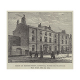 House in Rodney-Street, Liverpool, Where Mr Gladstone Was Born, 29 December 1809 Giclee Print by Frank Watkins