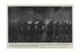 The Belgian Strikes, the Civic Guard Firing on the Mob at Louvain Reproduction procédé giclée par Frederic De Haenen
