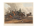 Death of Major General Sir William Ponsonby, Engraved by M. Dubourg, 1819 (Coloured Aquatint) Giclee Print by Franz Joseph Manskirch