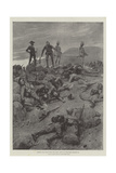 Sorting the Living from the Dead, Dawn on Spion Kop, 25 January Giclée-Druck von Frederic Villiers