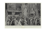 The Luncheon at the Guildhall, their Majesties Proceeding Up the Hall to the Dais Reproduction procédé giclée par Frederic De Haenen