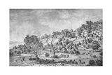 View of the Village North of Agady in the Bertat Region Giclee Print by Frederic Cailliaud