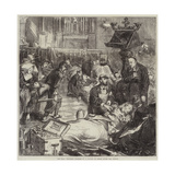 The War, Wounded Soldiers in a Church at Sedan after the Battle Giclee Print by Frederick Barnard