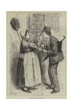 Paris Sketches, La Concierge Giclee Print by Frederick Barnard