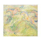Jumping Horses; Springende Pferde, 1910 Giclee Print by Franz Marc