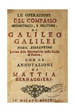 Title Page of Operations of the Geometric and Military Compass by Galileo Galilei (1564-1642) Giclee Print by Galileo Galilei